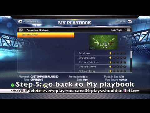 Madden 13 custom playbook how to set 5 audibles and my suggested audibles