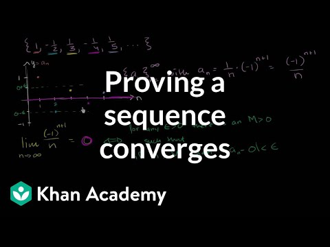 Proving a sequence converges using the formal definition | Series | AP Calculus BC | Khan Academy