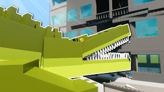 GIANT CROCODILE SURVIVAL! - Brick Rigs Multiplayer Gameplay - Tower Survival Challenge
