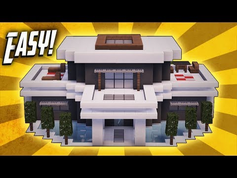 Minecraft: How To Build A Large Modern House Tutorial (#20)
