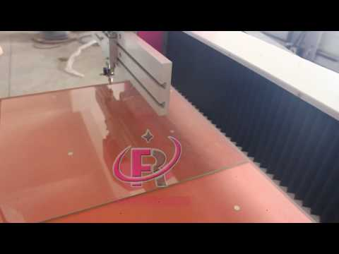 4mm thickness glass star shape cutting