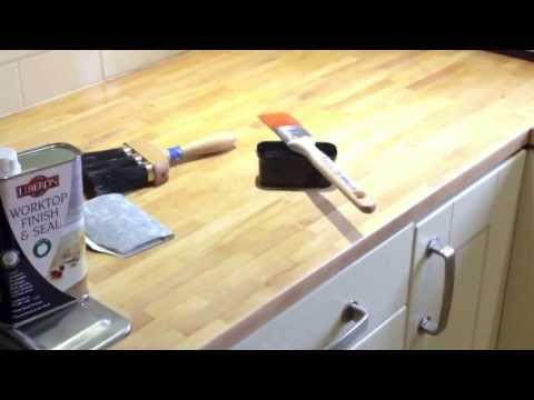 Sanding and oiling a kitchen worktop