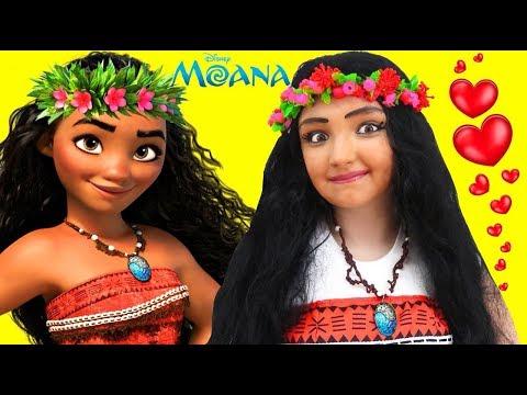 DISNEY MOANA MAKEUP ❤ Tutorial Disney Princess Movie Costume kids Makeup Hair Toys Halloween