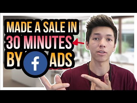 I Made A Sale 30 Minutes After Launching A FaceBook Ad (here's how)