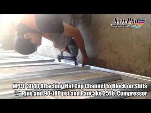 Hat Cap Channel to Concrete