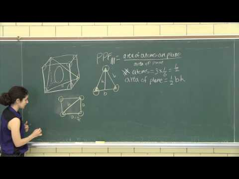 Planar packing fraction (factor) for the body centred cubic (111) plane