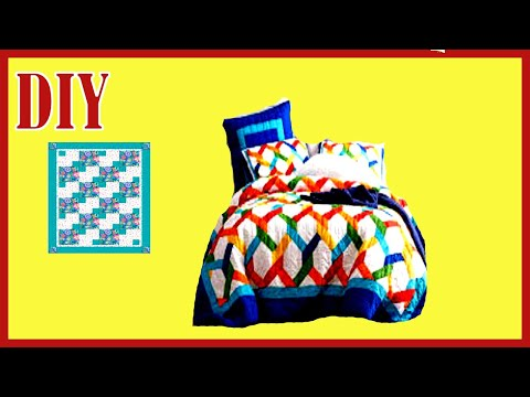 How to make a Barbie doll size sheet set/ doll beding plus a quilt (doll craft)