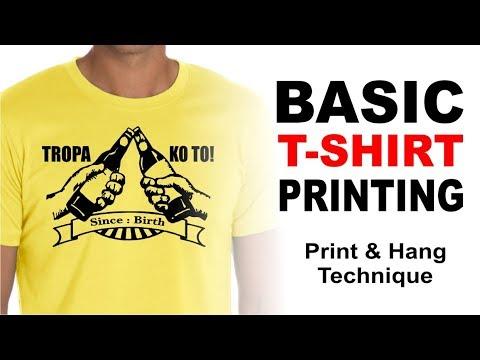 Screen Printing: Basic T-shirt Printing