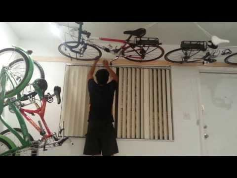 wall ceiling bike rack under $50