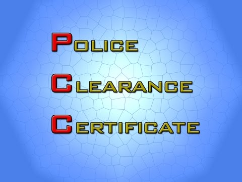 Police Clearance Certificate - Online Appointment.