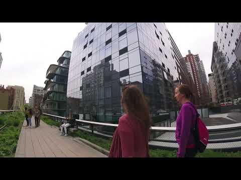 Walking New York City's High Line: Chelsea to Hudson Yards - 5x Timelapse