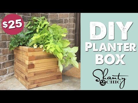 DIY Cedar Planter Box | Shanty2Chic