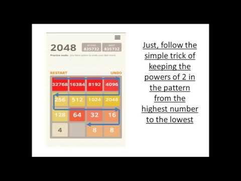 2048 Win Trick : 65536 tile with High Score 1.4 Million +