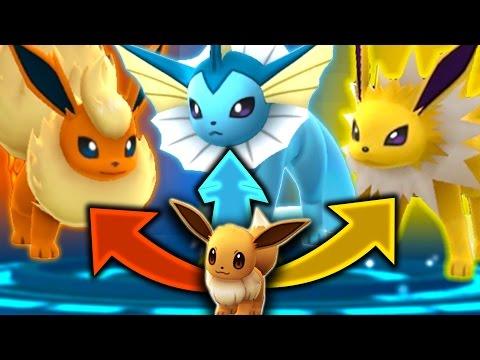 Pokemon GO - SECRET EEVEE EVOLUTION TRICK! (GET ALL 3 EEVEELUTIONS)