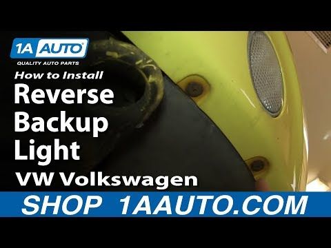 How To Install Replace Reverse Backup Light 1998-05 VW Volkswagen Beetle