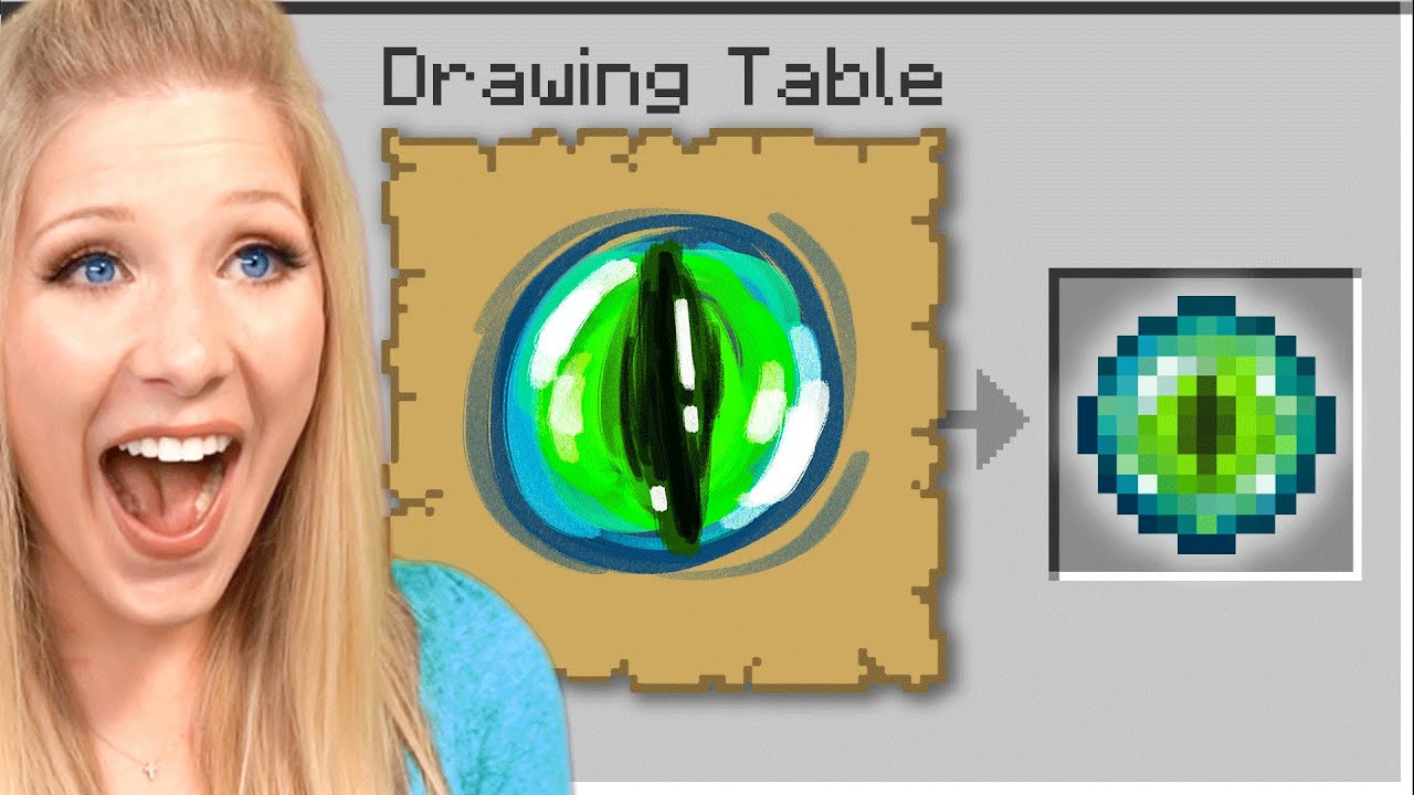 Minecraft But I Get Whatever I Draw...