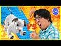 ROBO DOG AIBO VS. RYAN'S DADDY ! Who is the Better Robot Dog ?