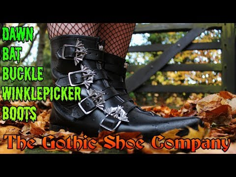 THE GOTHIC SHOE COMPANY - Dawn Bat Buckle Winklepicker Boots Review
