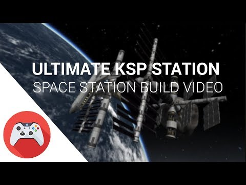 KSP - Ultimate Space Station with Asteroid and Space Shuttle