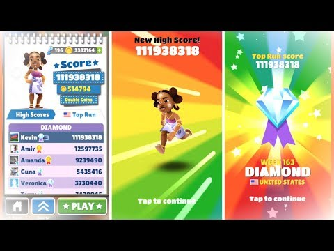 Over 100 Million Points on Subway Surfers! No Hacks or Cheats!