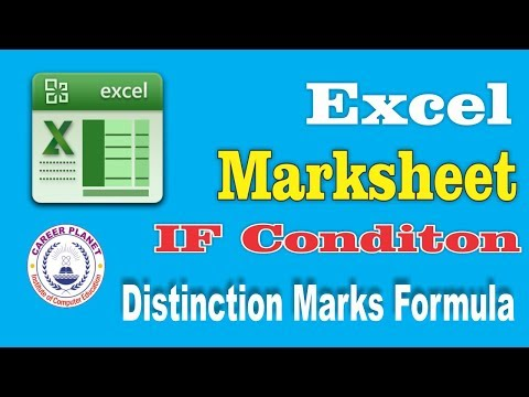 Student Marksheet in MS Excel (Hindi) |sum, Percentage, IF, Division, Distinction Marks formulas