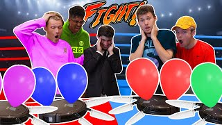 4 ROOMBA Vacuums Fight With Knifes & Balloons...