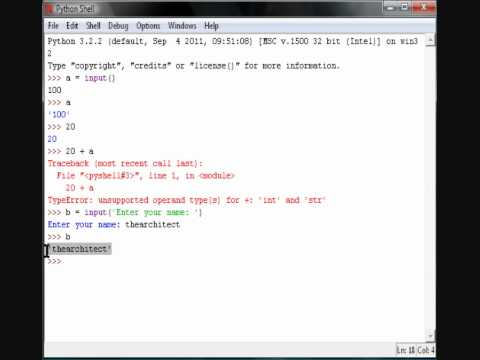 Python Tutorial 4 - Input Function
