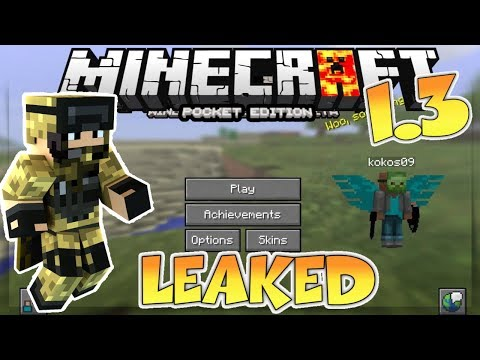 MCPE 1.3 OUT!? - MINECRAFT PE 1.3 GAMEPLAY ( Leaked ) - MCPE 1.3 NEWS