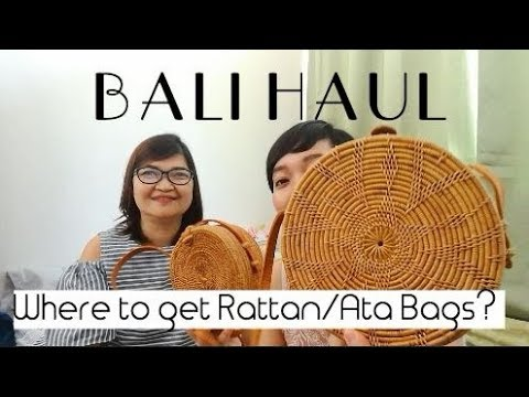 BALI HAUL // What's in my mom's pasalubong luggage + Where to get the cheapest Rattan Bags ? VLOG#5