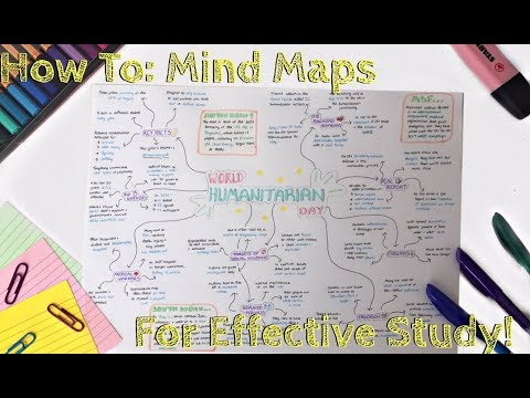 How to Make The PERFECT Mind Map and STUDY EFFECTIVELY!   Eve