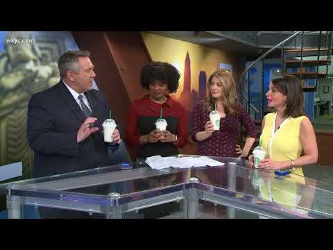 Taste test review of new Crystal Ball Frappuccino at Starbucks