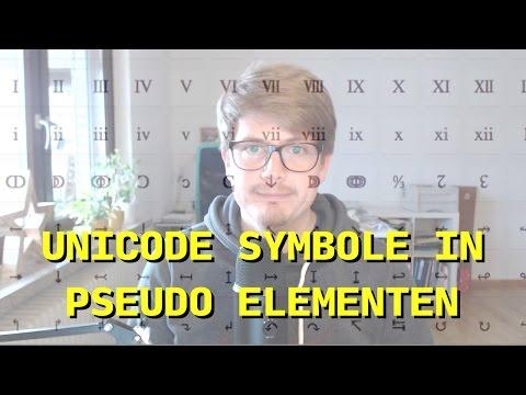 Unicode Symbole in Pseudo Elementen