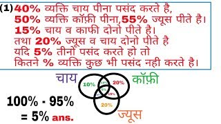 Venn Diagram Based Questions (In Hindi) ||| By Perfection Academy