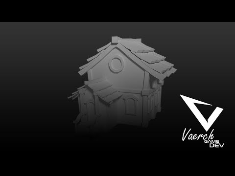 [Speed-Art ] Creating a Simple Low Poly Village House in Blender 3D for Game by Virmil Talattad