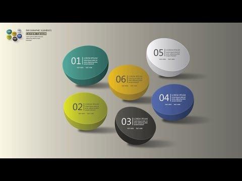 How to make 3D Graphic Design | Infographic Design template | Illustrator CC Tutorial