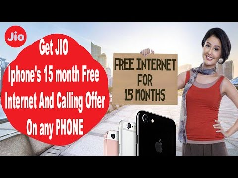 Iphone 15 Month free JIO Internet Offer on ANY PHONE (Android,Windows,apple)  - LATEST TRICK