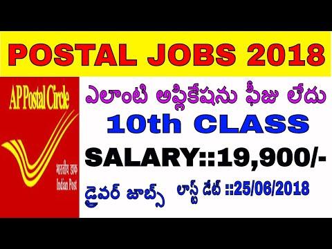 Indian Postal Office Recruitment 2018||Staff Car Driver Posts in Koti Postal Department