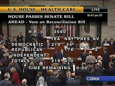 House Passes Senate Health Care Bill