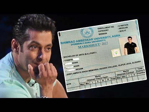 Salman Khan's FAKE Graduation Certificate From Agra University