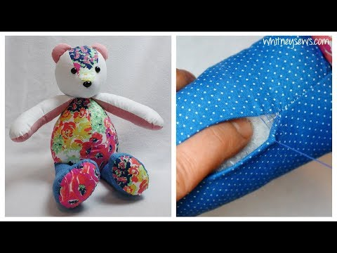 Ladder Stitch How to | Memory Bear Sewing 🐻 | Whitney Sews