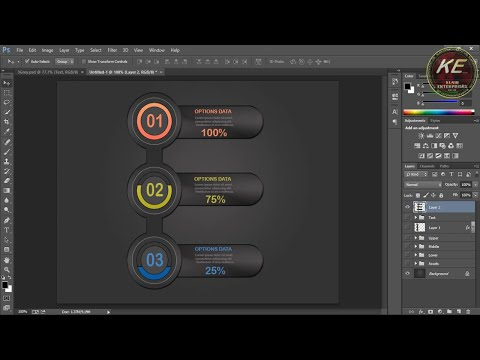 Photoshop Tutorials - How to Make Infographic Elements in Photoshop