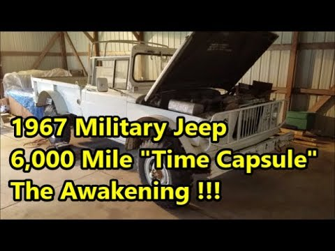 Forgotten Military Jeep 6k Miles : First Start Since the 80s - M715 Revival (Time Capsule)