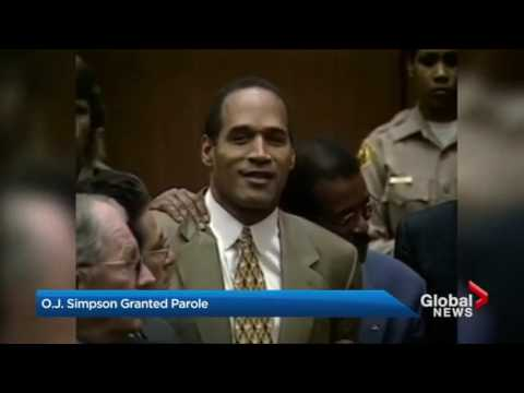 O.J. Simpson granted parole, expected to walk out of prison Oct. 1