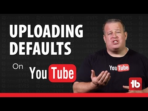 How To Create Default Upload Settings and Profiles on YouTube