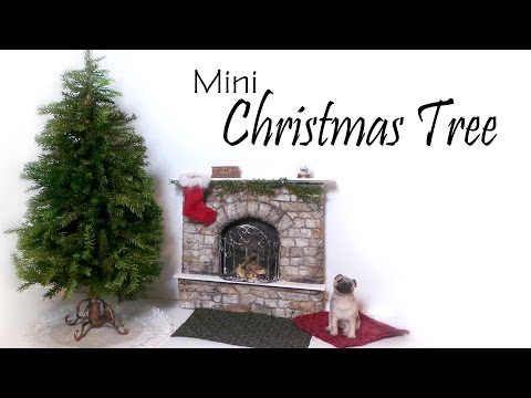 Miniature Christmas Tree Tutorial (+Stand & Skirt) - Dolls/Dollhouse