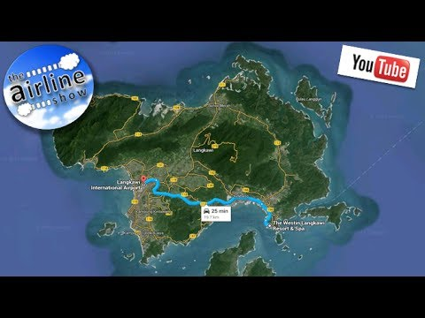 Dash Cam -  Drive to Langkawi Intl. Airport from Kuah (The Westin Hotel) incl chicken crossing road