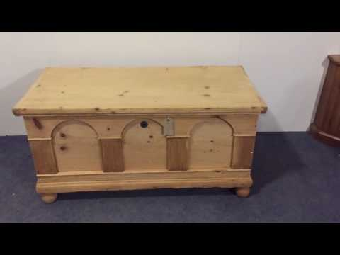 Large Antique Flat Top Chest - Pinefinders Old Pine Furniture Warehouse
