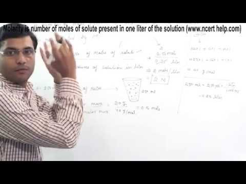 how to calculate the molarity of a solution
