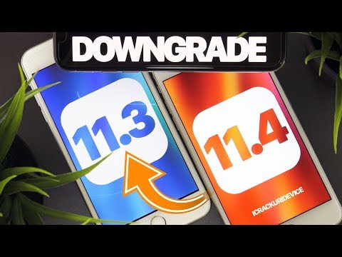 iOS 11.4 DOWNGRADE to iOS 11.3! - ANY iPhone, iPod, iPad, 11.3.1 (KEEP DATA)
