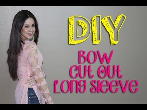 DIY Bow Cut Out Long Sleeve with Studs    Lucykiins